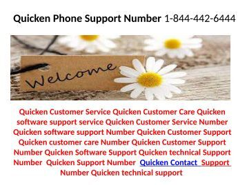 Quicken Technical Support Number  1-844-442-6444