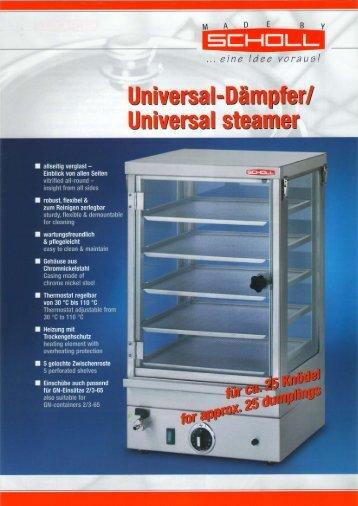 Knödeldämpfer Universal steamer