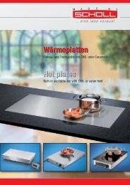 Sammelprospekt Wärmeplatten Hot plates