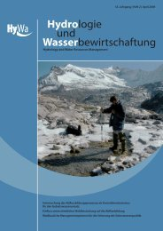 Einfluss unterschiedlicher Waldbestockung auf die Abflussbildung