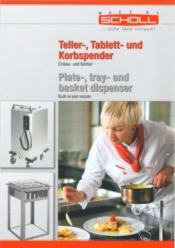 Tellerspender Plate dispenser Prospekt