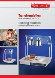 Tranchierplatten Carving stations TP900XX neue Art-Nr.