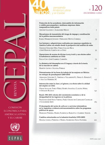 Revista CEPAL no. 120