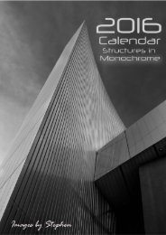 2016 Calendar Structures in Monochrome