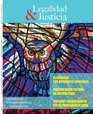 REVISTA LEGALIDAD Y JUSTICIA ENERO