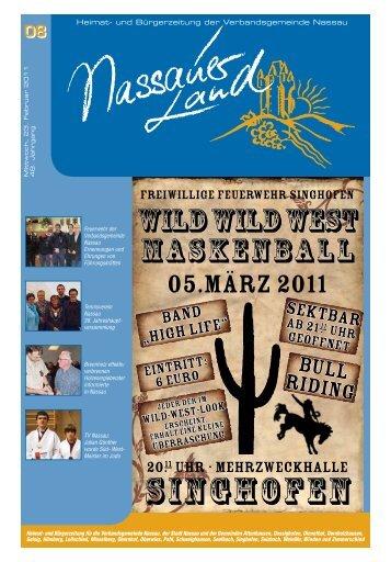 Mitteilungsblatt Ausgabe 8 - 2011 - Verbandsgemeinde Nassau