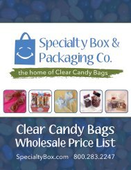 2017 ClearCandyBags Price List