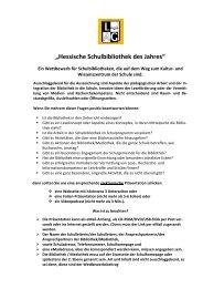 """""""Hessische Schulbibliothek des Jahres"""""""