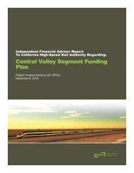 Central Valley Segment Funding Plan