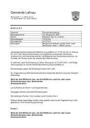 Bericht zur Sitzung der Gemeindevertretung am 31.10.2012 - Lahnau