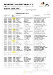 Spielplan 2012/2013 - Turnverein 1861 eV im ASV Landau