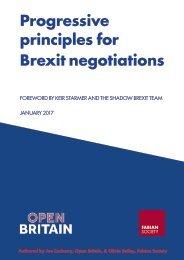 Progressive principles for Brexit negotiations