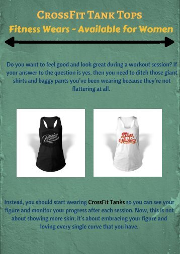 CrossFit Tanks – Where to Buy these Fitness Wears for Women
