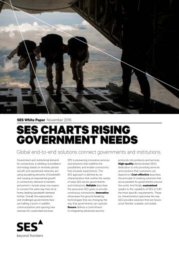 SES CHARTS RISING GOVERNMENT NEEDS