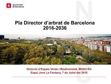 Pla Director d'arbrat de Barcelona 2016-2036