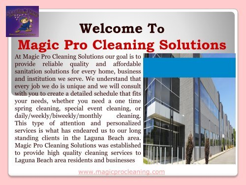 Carpet Cleaners Laguna Beach  Magic Pro Cleaning Solutions