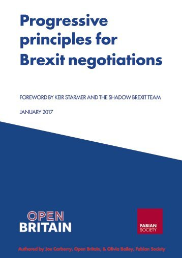 Progressive principles for Brexit negotiations