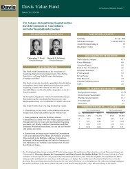 Davis Value Fund - Noramco