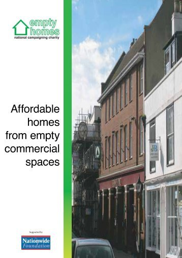 Affordable homes from empty commercial spaces