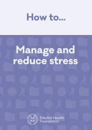 Manage and reduce stress