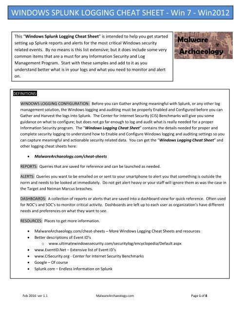 Splunk data model cheat sheet