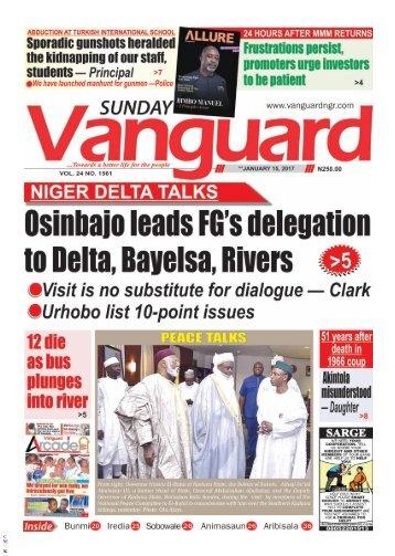15012017 - Osinbajo leads FGs delegation to Delta, Bayelsa, Rivers