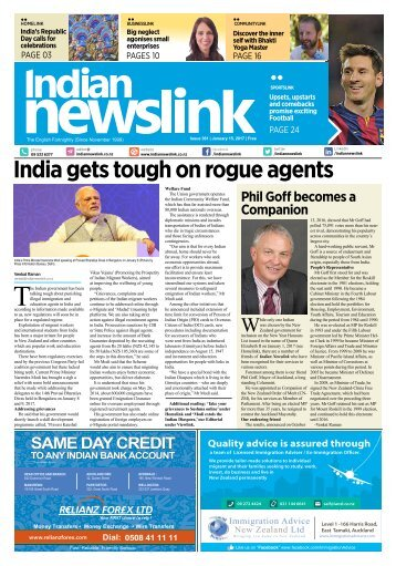 Indian Newslink 15th January 2017 Digital Edition