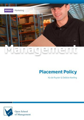 MM063 Placement Policy (Excerpt)