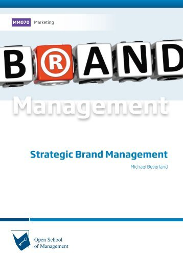 MM070 Strategic Brand Management (Excerpt)