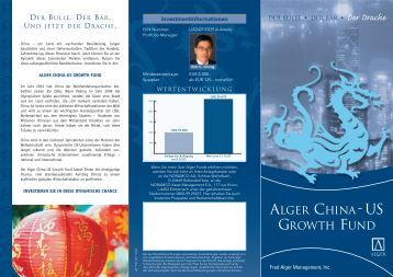 ALGER CHINA-US GROWTH FUND - Noramco