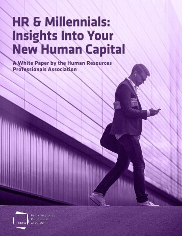 HR & Millennials Insights Into Your New Human Capital