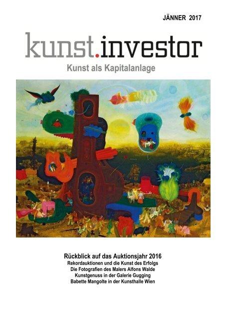 KUNSTINVESTOR AUSGABE JÄNNER 2017