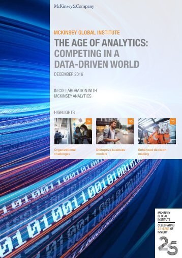 THE AGE OF ANALYTICS COMPETING IN A DATA-DRIVEN WORLD