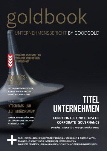 goldbook - Unternehmensbericht by goodgold