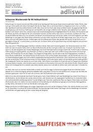 Pressebericht 2012-11-12a - Adliswiler Badminton Club