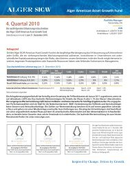 Alger American Asset Growth Fund - Noramco