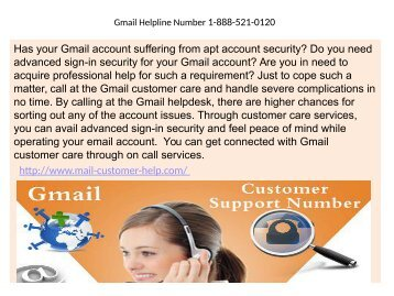 Assistance to boost the performance of Gmail account1-888-521-0120