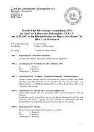 Zunft der Lahnsteiner Rollenspieler e.V. Protokoll der - Der Verein
