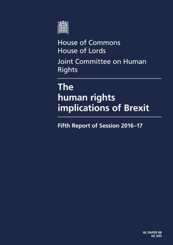 The human rights implications of Brexit