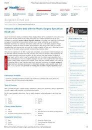 Email list of Plastic Surgeons