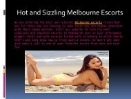 Hot and Sizzling Melbourne Escorts