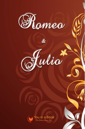 Romeo and Juliet personalized Book
