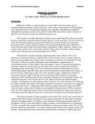 Bisphenol A Action Plan - US Environmental Protection Agency