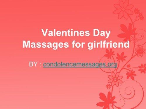 Valentines Day Massages for girlfriend