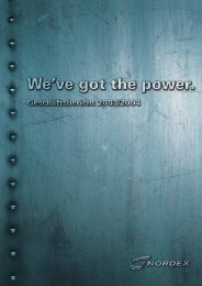 Nordex Geschäftsbericht 2003/2004