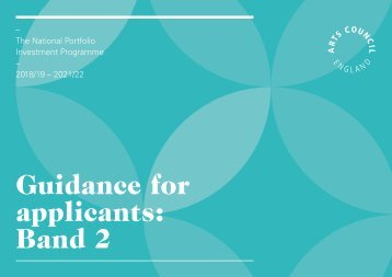 Guidance for applicants Band 2