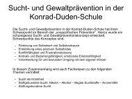 Projekt - Konrad-Duden-Schule