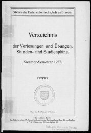 Verzeichnis der Vorlesungen und Übungen, Stunden- und Studienpläne Sommer-Semester 1927
