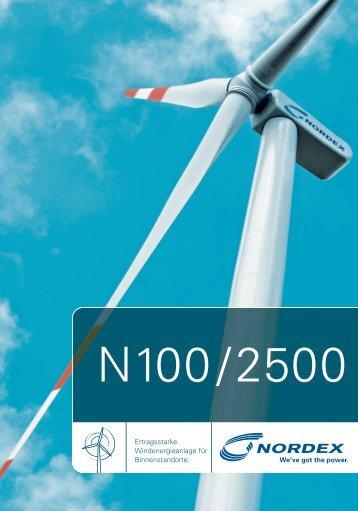 Ertragsstarke Windenergieanlage für Binnenstandorte. - Nordex