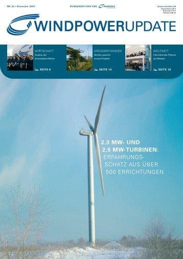 und 2,5 mw-turbinen - Nordex